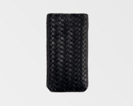 iPhone/iPod-Tasche-Case-Etui-Lammleder-geflochten-braun