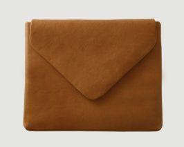 iPad Huelle Lammleder Cognac