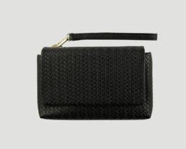 Smartpurse Grande black Lapaporter, smartphone leather purse