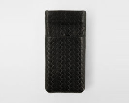 iPhone Card Case black geflochten Braid