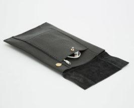 iPad Case Rindsleder schwarz