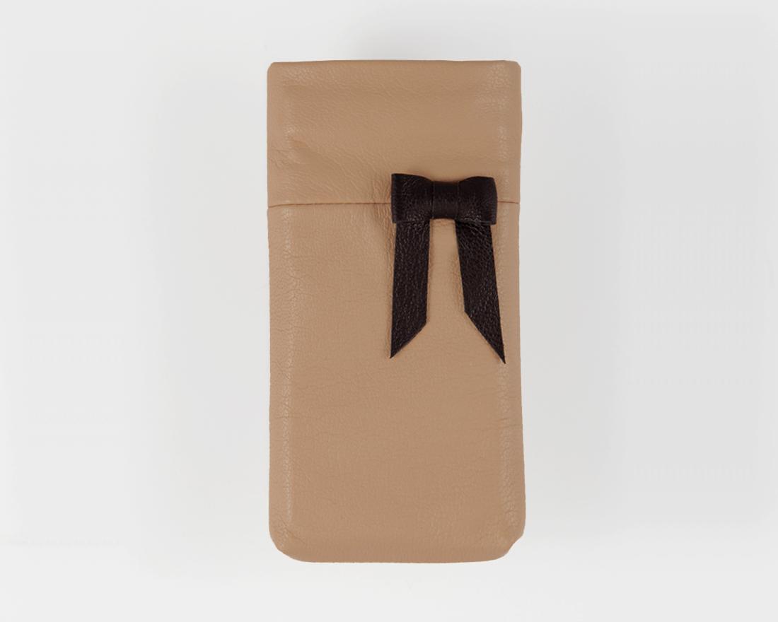 iPhone case Leder mit Schleife Ballerina Noir - Lapàporter