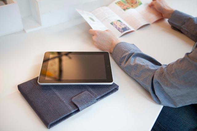 Lapàporter-iPad-Tasche/Case/Hülle-Lachsleder