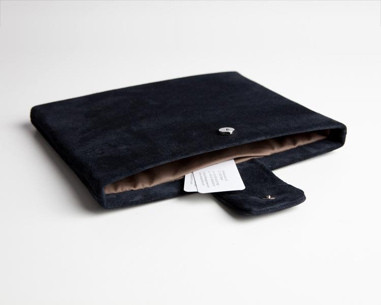 iPad-Tasche-Case-Hülle-Veloursleder-Wildleder-blau