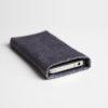 iPhone/iPod-Tasche-Case-Etui-Lachsleder-platin-grau/blau