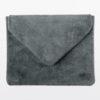 iPad-Tasche-Case-Hülle-Veloursleder-Wildleder-grau
