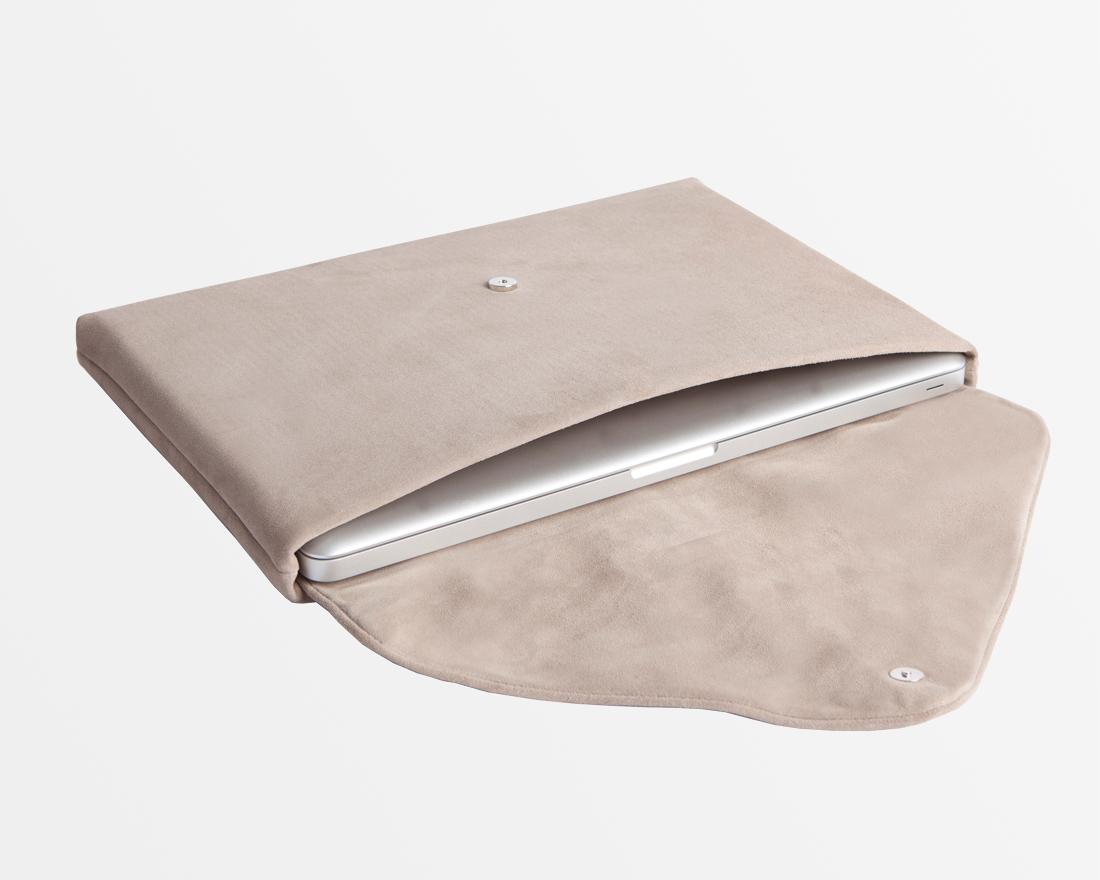 Laptop-Tasche-Hülle-Case-MacBookPro/Air-Veloursleder-Wildleder