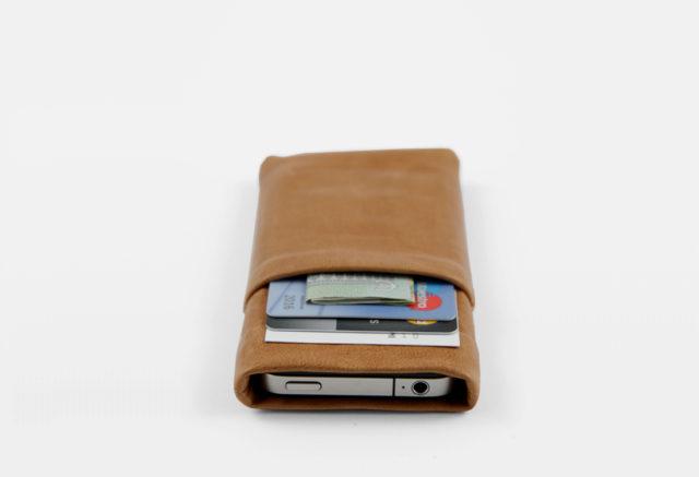 iPhone Case Vintage Lammleder