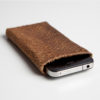iPhone Case Lachsleder