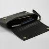 Leder portemonnaie schwarz