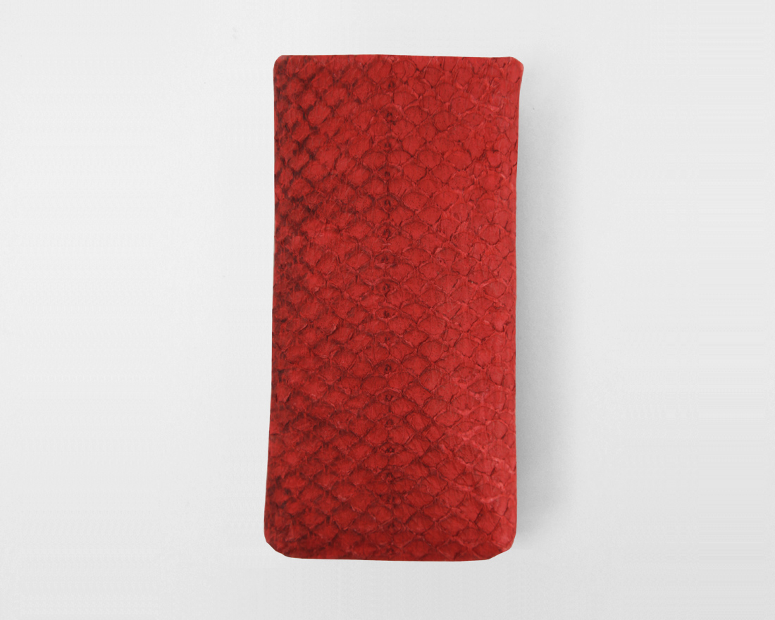 iPhone case Salmon Lachsleder rot