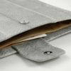 iPad Case Lachsleder grau