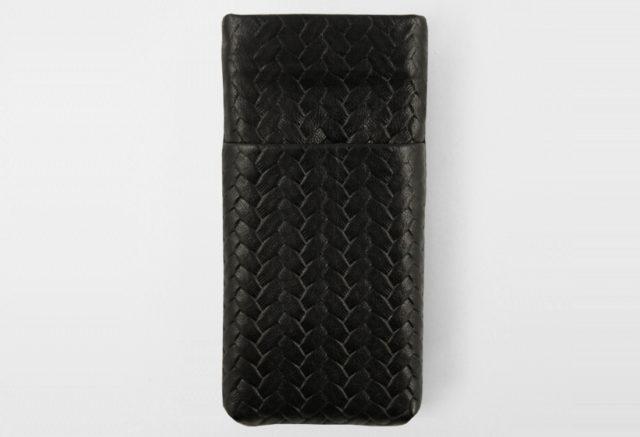 iPhone Card Case black geflochten Braid