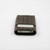 iPhone Card Case black coffee geflochten Braid