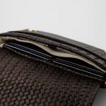 clutch Portemonnaie braun Leder