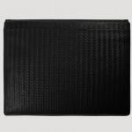 Laptop Huelle geflochten Leder schwarz