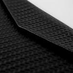 MacBook Huelle geflochtenes Leder schwarz