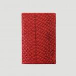 Kartenetui Lachsleder rot