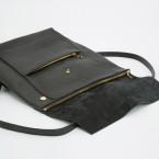 kleiner Lederrucksack schwarz