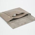 Ledertasche Macbook leather macbook case laptop huelle leder grau