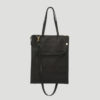 lapaporter Ledertasche laptop shopper schwarz