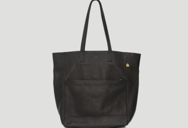 Lapaporter Shopper Ledertasche schwarz