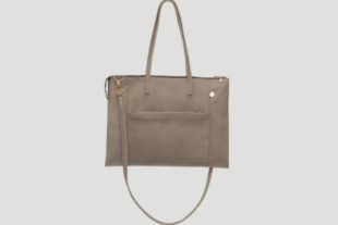 lapaporter Ledertasche laptop shopper grau