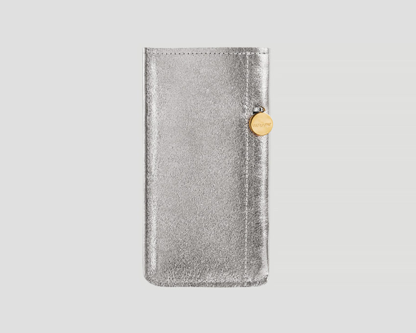 sony XperiaZ5 Premium Case leder silber