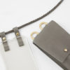 iPhone hülle und Tasche zum umhängen grau Leder crossbody iPhone case and detachable bag grey leather