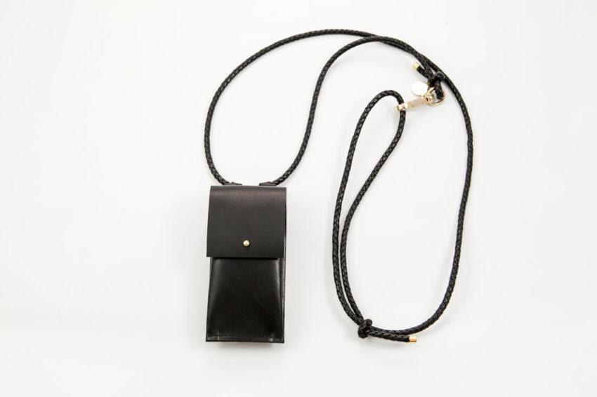 Handykette Leder, IPhone hülle Zum Umhängen mit Geflochtener Lederkordel
