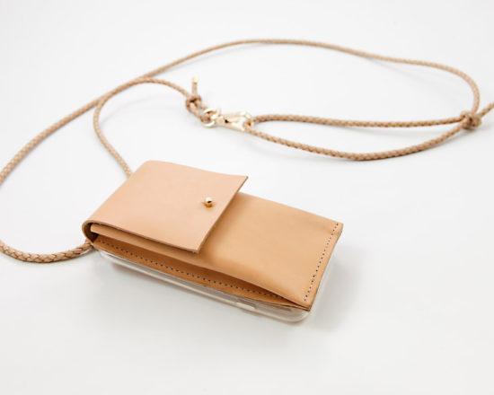 iPhone case zum umhängen, iPhone Hülle zum umhängen mit Lederband und Tasche