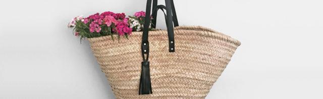 korbtasche mit lederhenkel basket bag with leather handles