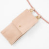 iPhone hülle und Tasche zum umhängen rose Leder crossbody iPhone case and detachable bag rose leather