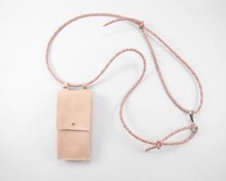 iphone huelle zum umhängen rosa, iphone hülle mit leder band und tasche