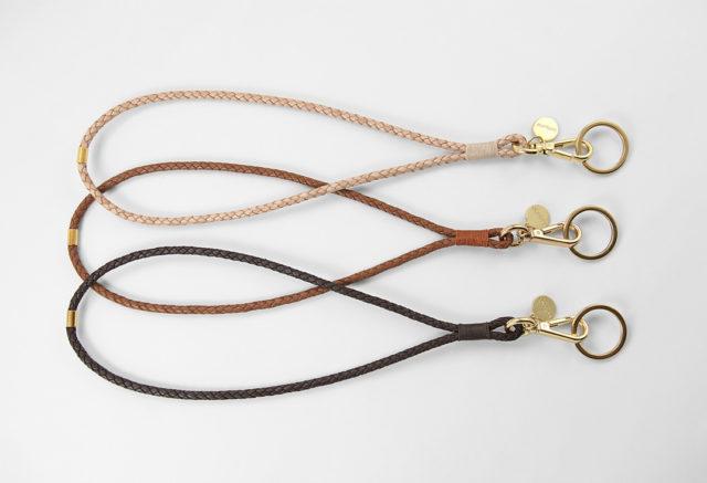 Leder Schlüsselanhänger lederband geflochten leather keyholder keychain braided