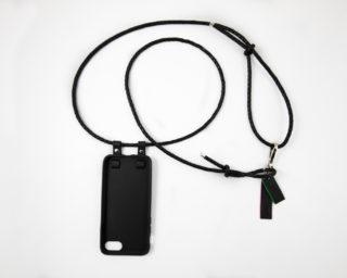 iPhone hülle zum umhängen schwarz Leder iPhone crossbody case black leather