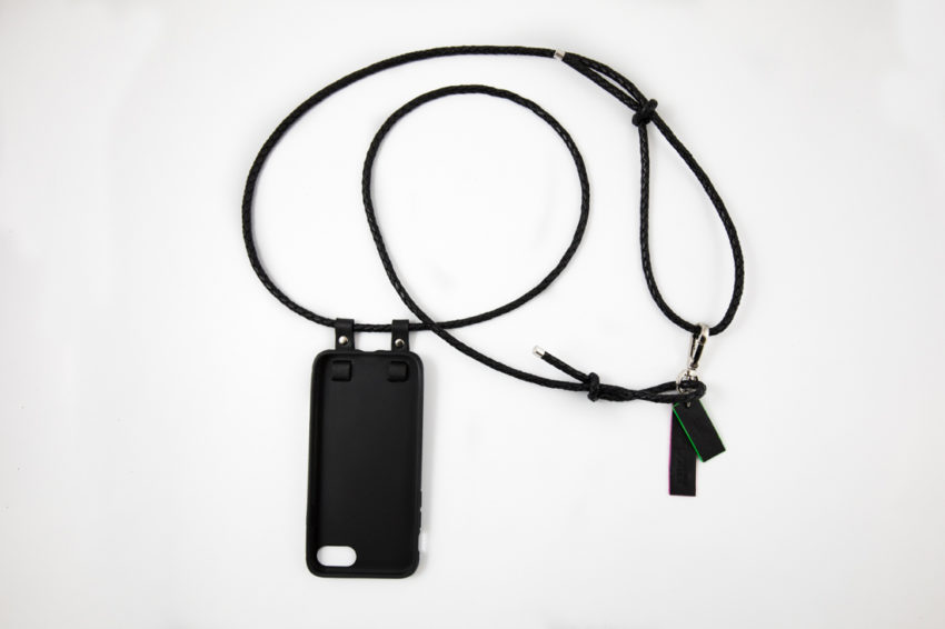 iPhone hülle zum umhängen schwarz Leder iPhone crossbody case black leather