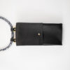 iPhone hülle zum umhängen schwarz Leder crossbody iPhone case black leather