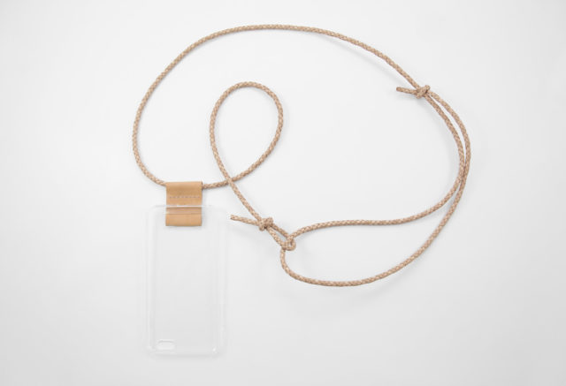 iPhone hülle zum umhängen natur Leder crossbody iPhone case ivory leather