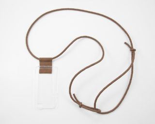 iPhone hülle zum umhängen cognac Leder crossbody iPhone case cognac leather
