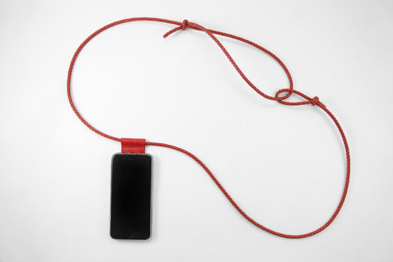 iPhone hülle zum umhängen rot Leder crossbody iPhone case red leather