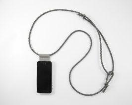 iPhone hülle zum umhängen grau Leder crossbody iPhone case grey leather