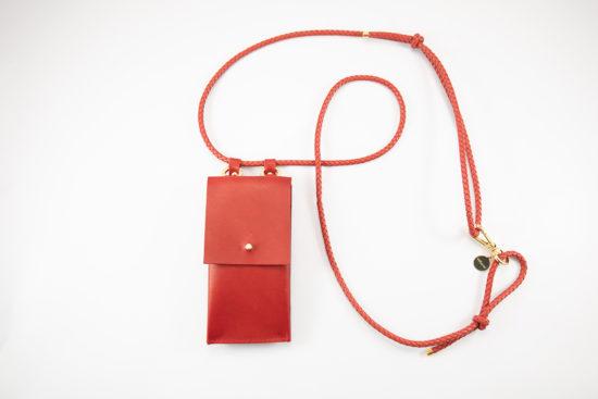 Leder Lederband Handykette Smartphone necklace iPhone umhängen