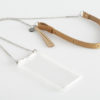 Handykette für Smartphone aus Metal mit Ledertasche crossbody necklace for iPhone with leather bag