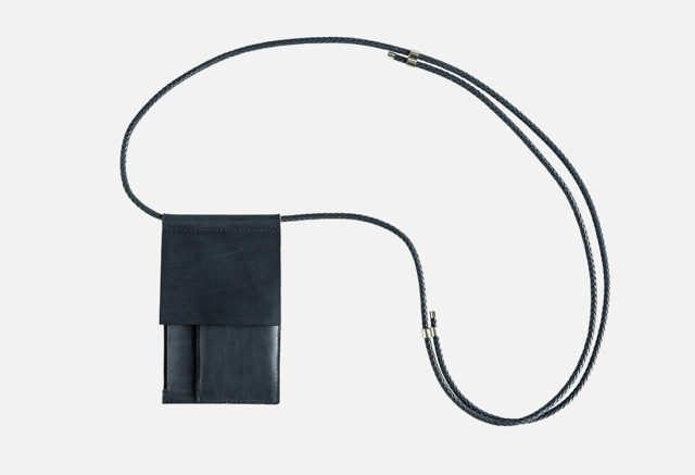 Leder Brustbeutel, neck pouch, leather, Umhängeportemonnaie, crossbody leather bag