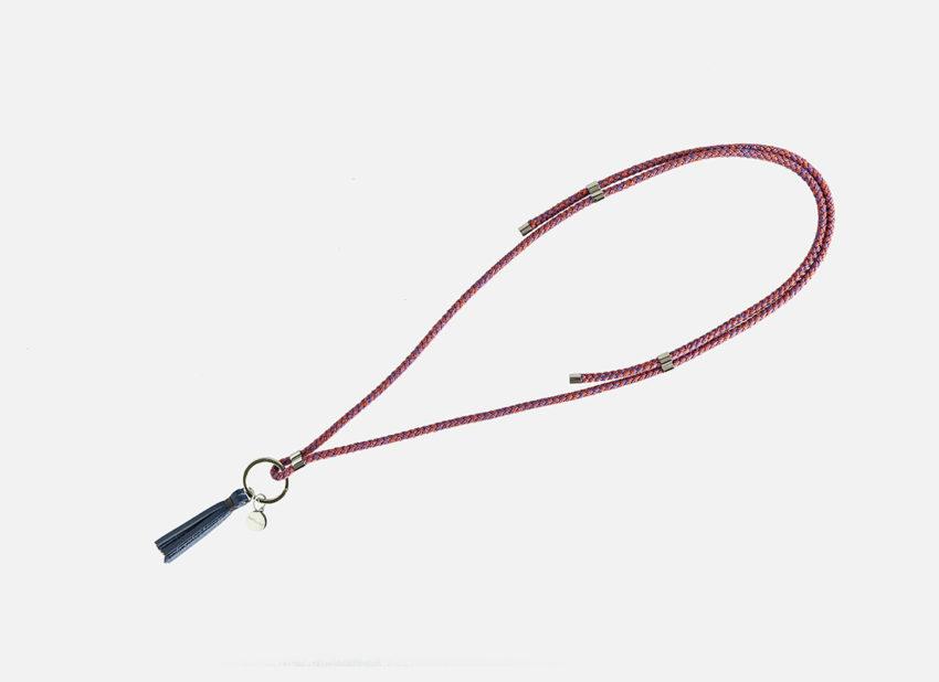 Schlüsselanhänger zum umhängen, blau, kordel , keaholder neck