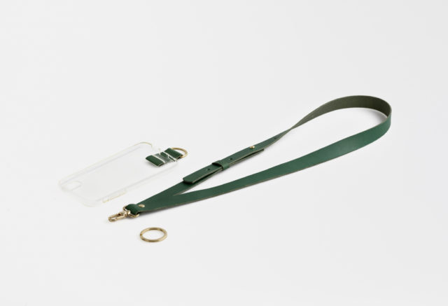 iPhone necklace-Crossbody iPhone case with leather strap