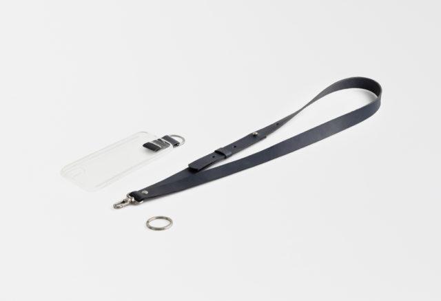 Handykette Lanyard iPhone Huelle mit Lederriemen