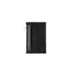 Lederportemonnaie klein schwarz, small leather wallet black