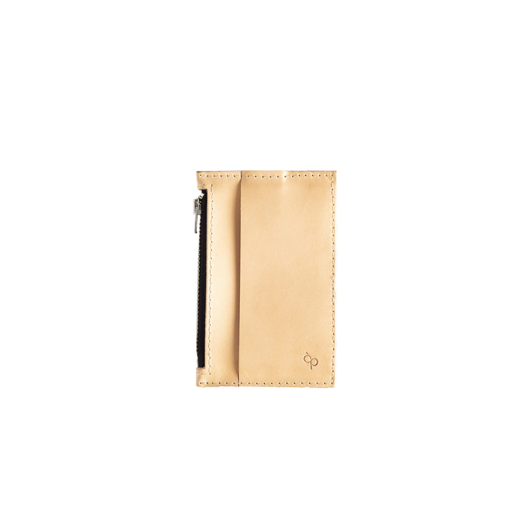 Lederportemonnaie klein natur, small leather wallet ivory
